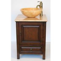 22 Inch Small Travertine Vessel Sink Bathroom Vanity
