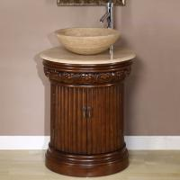 Silkroad Exclusive 24 Inch Single Sink Bathroom Vanity