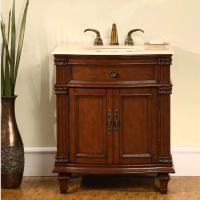 30.5 Inch Single Sink Bathroom Vanity with Marble