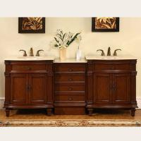 Silkroad Exclusive 80 Inch Double Sink Bathroom Vanity