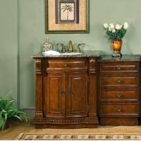 Silkroad Exclusive 53 Inch Single Sink Bathroom Vanity