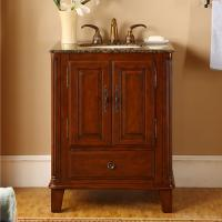 Silkroad Exclusive 28 Inch Single Sink Bathroom Vanity