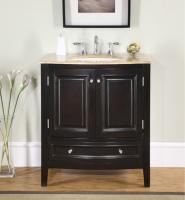 Silkroad Exclusive 32 Inch Single Sink Bathroom Vanity