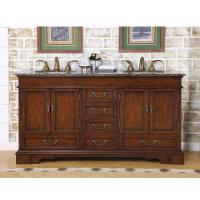 Silkroad Exclusive 60 Inch Double Sink Bathroom Vanity
