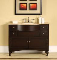 Silkroad Exclusive 45 Inch Single Sink Bathroom Vanity