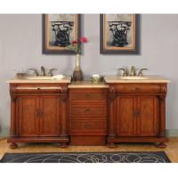 Silkroad Exclusive 82.5 Inch Double Sink Bathroom Vanity