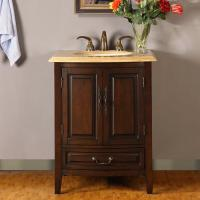 Silkroad Exclusive 27 Inch Single Sink Bathroom Vanity