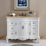 48 Inch Furniture Style Single Bathroom Vanity in White