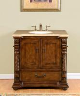 36 Inch Single Sink Bathroom Vanity in Brazilian Rosewood