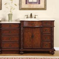 55 Inch Traditional Single Bathroom Vanity