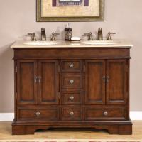 Silkroad Exclusive 48 Inch Double Sink Bathroom Vanity