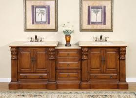 95 Inch Traditional Double Bathroom Vanity