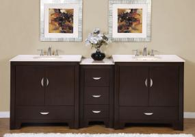 90 Inch Modern Double Bathroom Vanity
