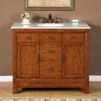 Silkroad Exclusive 42 Inch Single Sink Bathroom Vanity