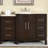Silkroad Exclusive 53.5 Single Sink Bathroom Vanity