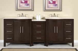 89 Inch Modern Double Bathroom Vanity