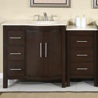 53.5 Inch Modern Single Bathroom Vanity with Espresso Finish