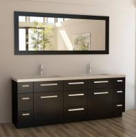Design Element Co. 84 Inch Double Bath Vanity Set in Espresso