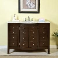 48 Inch Single Sink Bathroom Vanity in Dark Walnut