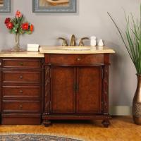 Silkroad Exclusive 52 Inch Single Sink Bathroom Vanity