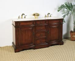 Legion Furniture 60.5 Inch Double Sink Bathroom Vanity