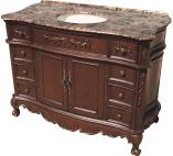 48 Inch Single Sink Bathroom Vanity in Mahogany