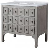 36  Inch Freestanding Bath Vanity in Distressed Gray