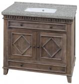 36 Inch Single Sink Bathroom Vanity with a Rustic Wood Finish