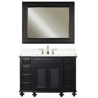 48 Inch Single Sink Vanity with a Dark Espresso Finish and a Carrara White Marble Top