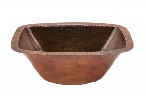 Rectangle Hammered Copper Bathroom Sink