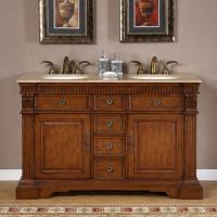 55 Inch Furniture Style Double Sink Bathroom Vanity