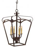 4 Light Iron Lantern Chandelier
