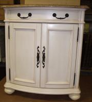 30 Inch Single Sink Furniture Style Bathroom Vanity with Antique White Finish and Choice of Counter Top