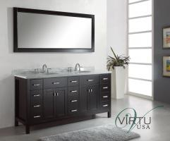 72 Inch Double Sink Bathroom Vanity with Twelve Drawers