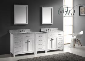 93 Inch Double Sink Bathroom Vanity with Ample Storage