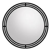 Native Trails Black Round Mirror