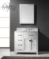 36 Inch Single Sink Bathroom Vanity in White