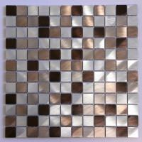 Silver and Brown Aluminum Tile