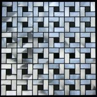 Silver and Black Aluminum Tile