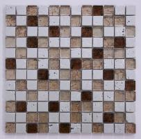 Silver and Gold with Brown Mixed Tile