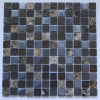Brown Tempered Glass and Marble Tile