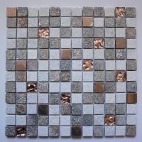 Copper with White and Brown Mixed Wall Tile