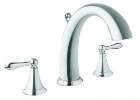 Polished Chrome Three Hole Bathroom Vanity Faucet