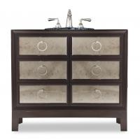 36 Inch Single Sink Bathroom Vanity in Deep Merlot