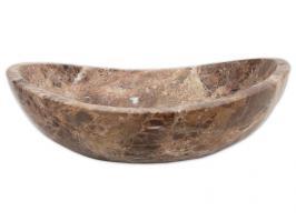 Eden Bath Natural Emperador Marble Canoe Vessel Sink