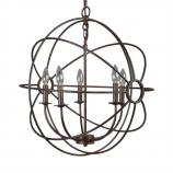 5 Light Mini Chandelier in Rustic Finish