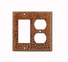 Copper 2 Hole Outlet and Ground Fault Rocker GFI Cover