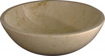 Crema Marfil Marble Vessel Sink