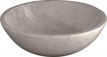 Quiescence White Marble Vessel Sink