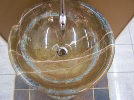 Quiescence Marble Blend Vessel Sink